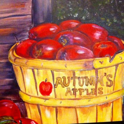 apples on porch